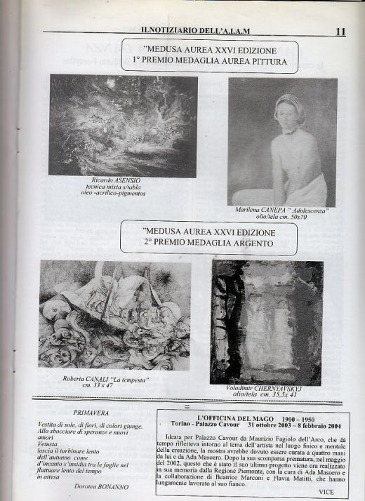 RICARDO ASENSIO Medusa Aurea XXVI Edizione 1ºPremio Medaglia Aurea Pittura