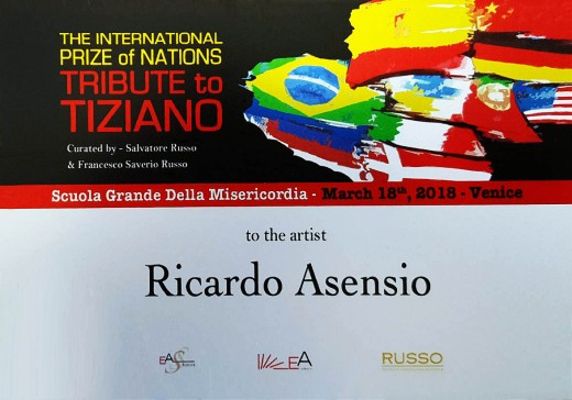 Ricardo Asensio The International PRIZE of NATIONS 'TRIBUTE to TIZIANO' Venice, 2018