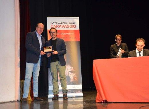 Entrega del premio International Prize Caravaggio 2018 Milan Ricardo Asensio