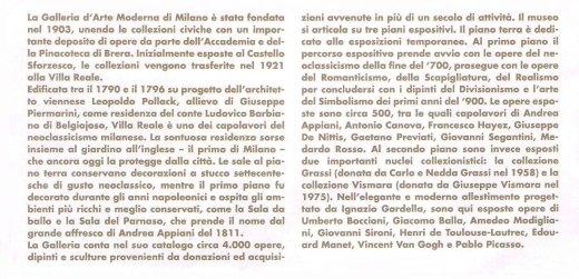 Ricardo Asensio Galleria d'Arte Moderna Milan Italy