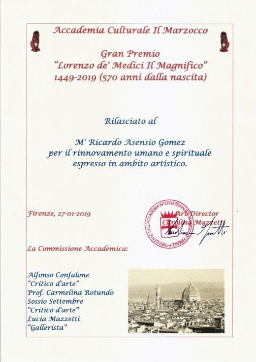Ricardo Asensio Firenze 27 Enero 2019