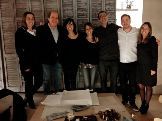 Ricardo Asensio con familia