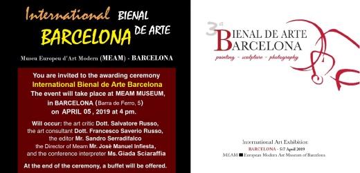 Invitation International Bienal de Arte Barcelona
