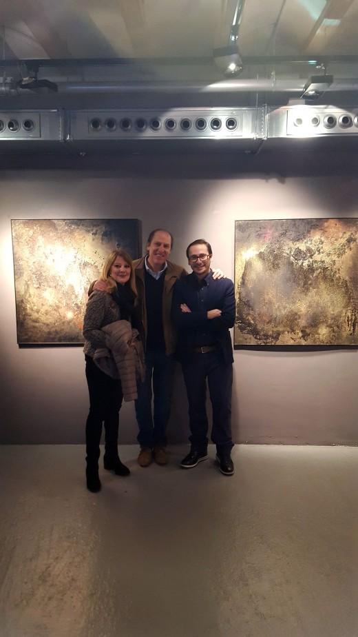 Ricardo Asensio, con Lola Muda y Salvatore Russo